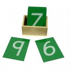 Szorstkie cyfry z pudełkiem