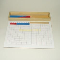 Tablica i pudełko z listewkami – odejmowanie