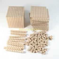 System dziesiętny – kostki drewniane