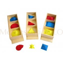 Duży komplet kół, kwadratów i trójkątów