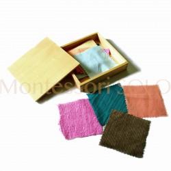 Pudełko tkanin (6 par tkanin o różnych  fakturach)