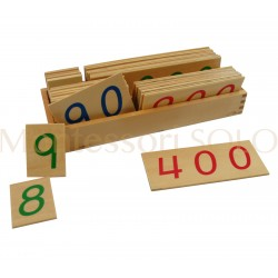 Złoty materiał - karty liczbowe drewniane duże