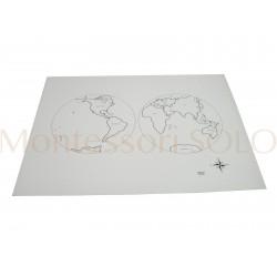 Puzzlowa mapa świata - karta kontrolna z podpisami (ang.)