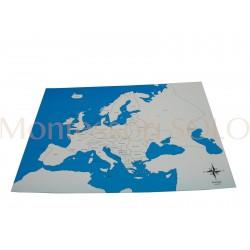 Konturowa mapa świata i Europy - płytka