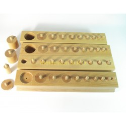 Cylindry – 4 zestawy cylindrów z drewna bukowego – jakość premium