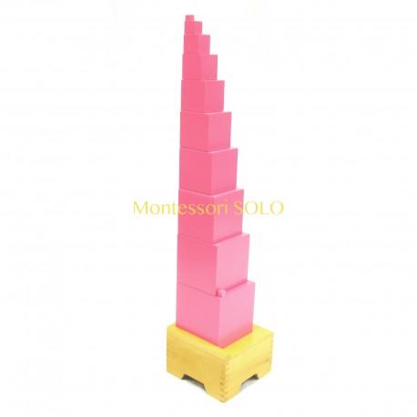 Różowa wieża z podstawką
