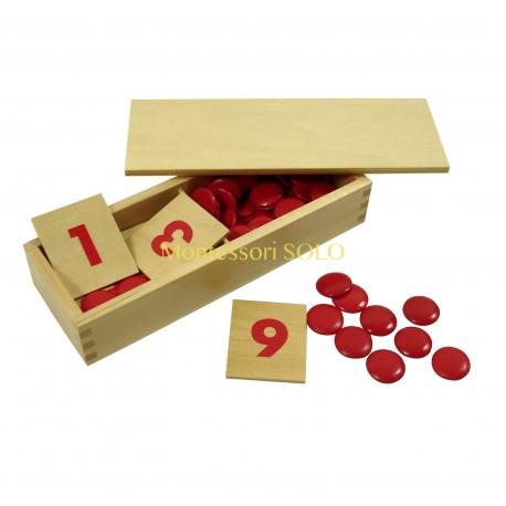 Drewniane karty z liczbami