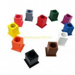 Zestaw 11 kolorowych pojemników na kredki – jakość premium